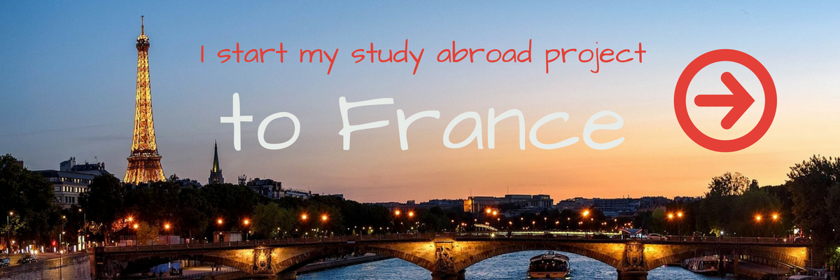 I start my study abroad project to france now!